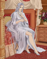 TARGA Felicia brushing hair (commission) by Precia-T
