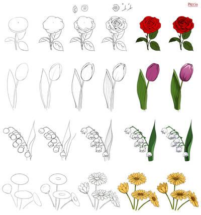 Floral study by Precia-T