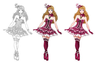 Alice in Wonderland stages + video process by Precia-T