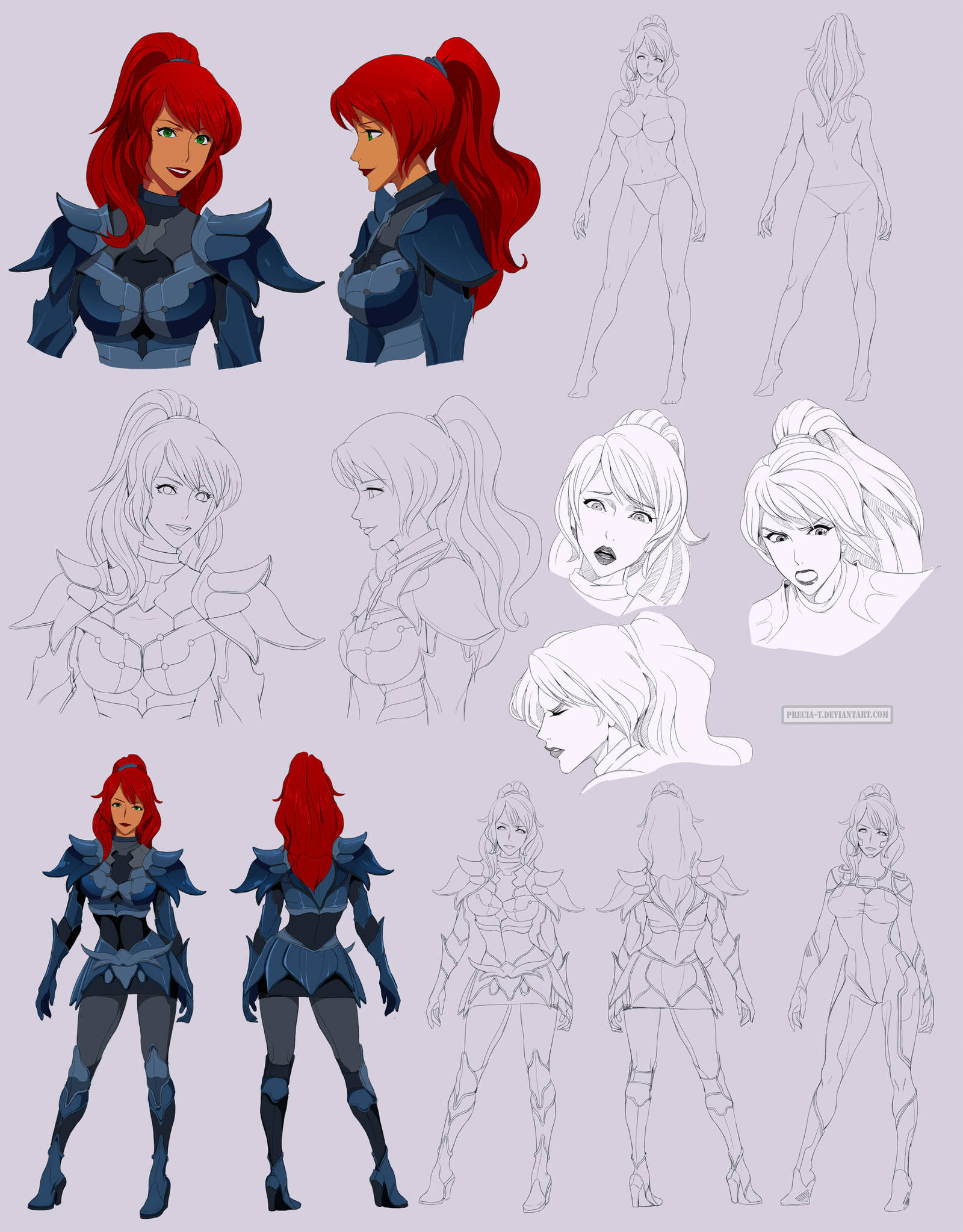 Claire - commission Character sheet TYPE A by Precia-T