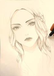 Daenerys Targaryen WIP by Precia-T