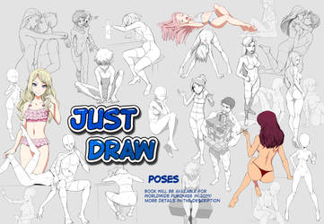 JUST DRAW poses - Book by Precia-T