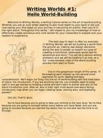 Writing Worlds #1 - Hello World-Building by ArtificialPhoenix