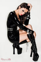 Kerri taylor Black Latex Dress by modelkerritaylor