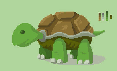 Cute turtle by sergilazaro