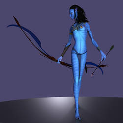 Neytiri - requested pose 2 by Fierox