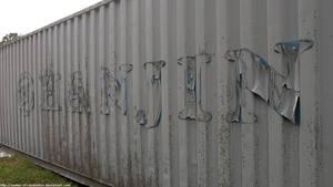 Hanjin shipping container by NickACJones