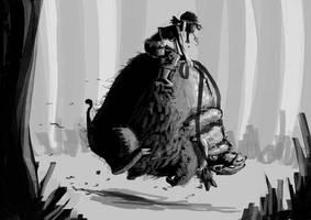 Wildschweinritt by Annamalie