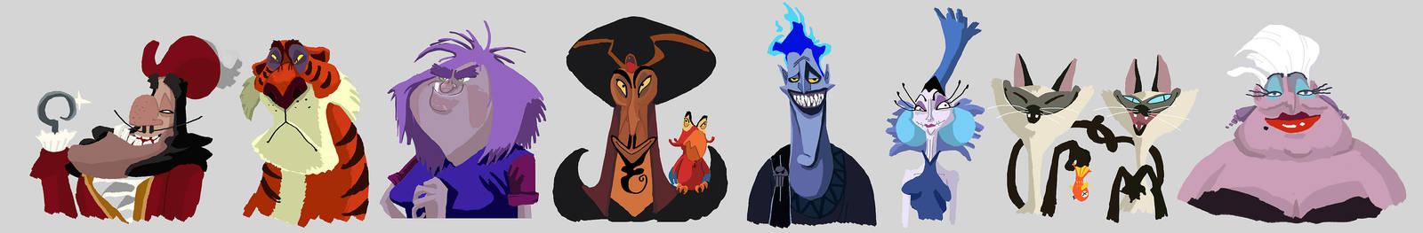 Disney villains by Annamalie