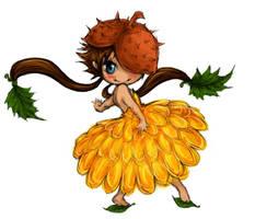 autumn chibi fairy by naneste