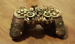Steampunk PS Controller by cybercrafts