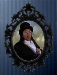 Elegant-steampunk-portrait by v-for-vincent