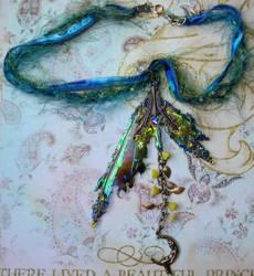 Blue wings pendant by elvenelysium
