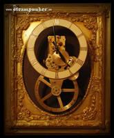 Steampunk Wanduhr by steamworker