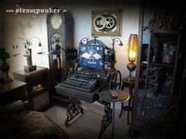 Steampunk Computer, Steampunk Room by steamworker