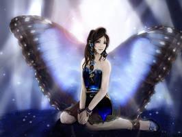 Blue Butterfly by AerisGainsley
