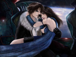 Rinoa and Squall by AerisGainsley
