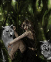Lady of the forest by AerisGainsley