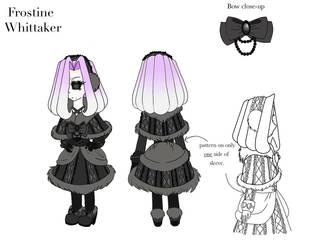 Character Reference Sheet--Frostine Whittaker by FoaminianPriestess