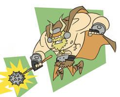 Viking Strikes by tyrannus
