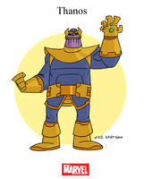 Mighty Marvel Month of March - Thanos by tyrannus