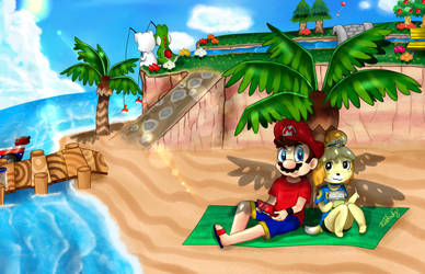 .: Summer in ACNL :. by Estefinuky