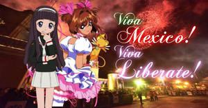 Sakura y Tomoyo: Viva Mexico by 3D4D