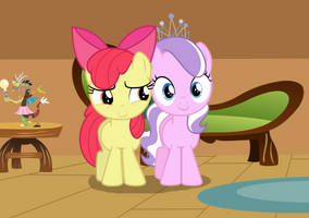 Apple Bloom and Diamond Tiara by 3D4D