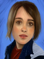 Ellen Page by HarrySorne