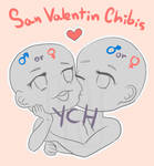 [OPEN/ 1 SLOT] YCH Chibis Couple auction by Eclipse-Cat