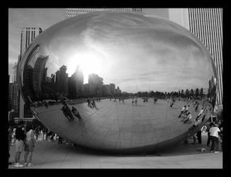 Cloud Gate..edit 'The Bean' by GoAskAlice17