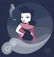 Foggy Night Femme Fatale by MeghanMurphy