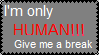 Only Human Stamp. by KleeAStrange