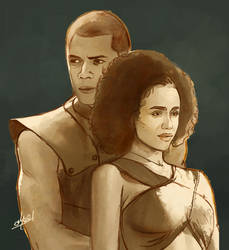missandei and Greyworm  Love by abeermalik