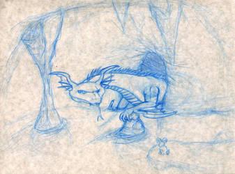 Dragon sketch by LucidArtist83