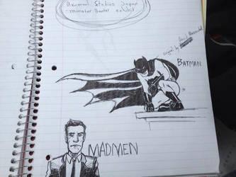 Batman and Madmen by LucidArtist83