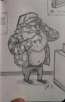 Santa Clause in a parts store?! by LucidArtist83