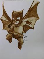 Little coffee Batman by LucidArtist83