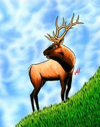 Dad Xmas Elk by LucidArtist83