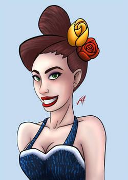 Pin up girl by LucidArtist83