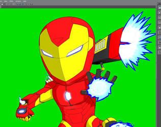 WIP Iron Man by LucidArtist83