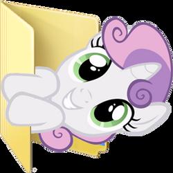 Custom Sweetie Belle folder icon by Blues27Xx