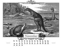Save the Dinosaurs calendar by FlavrSavr