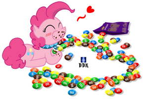Pinkie Pie's chocolate candies by BB-K