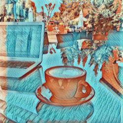 Van Gogh Coffee 2 by WoodlandYoloArt