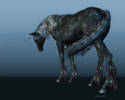 Midnight Blue Unicorn TEST by CatONineTales
