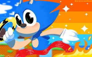 Sonic the Hedgehog by DrewGreen