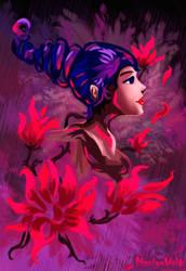 ~ Scarlet petal ~ by Nastya-Volk