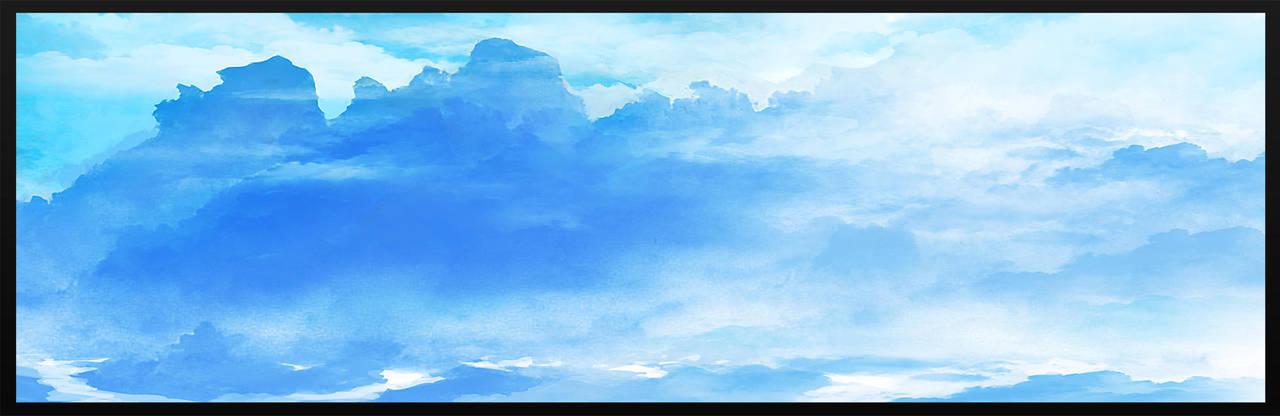 Speedpainting: Blue Mountains by N-Deed