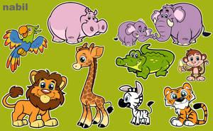 jungel animals by nabillll